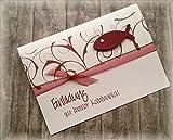 Einladung Einladungskarte Kommunion Konfirmation Firmung Taufe Fisch dunkelrot bordeaux weinrot rot