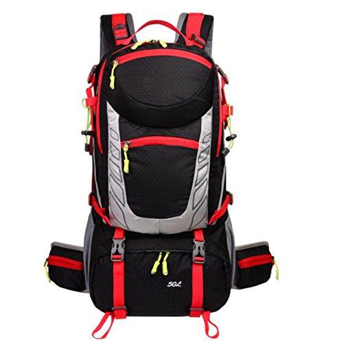 Wandern Rucksäcke Outdoor Interne Rahmen Bergsteigen Tasche Wasserdicht Camping Rucksack,Orange Black