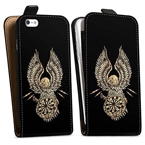 Apple iPhone X Silikon Hülle Case Schutzhülle Dart Adler Darts Downflip Tasche schwarz