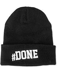 HI 5   #DONE Hashtag Beanie Mütze mit 3D Stick