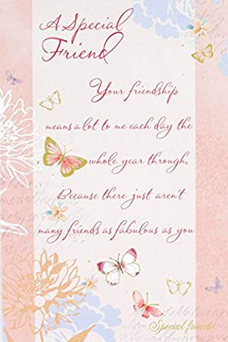 Special Friend Reflections Birthday Card Flowers 9