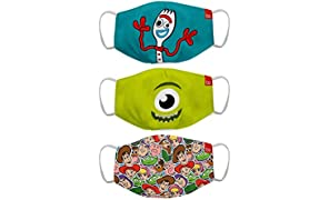 Bon Organik Toy Story Fun (OFFICIAL MERCHANDISE) 2 Ply Printed Cotton Cloth Face Mask Bundle For Kids (Set Of 3) (4-8Y)