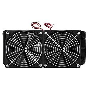 ASHATA 2Pcs Ventiladores de Refrigeración por Agua 120 * 120mm,CPU Radiador Enfriamiento para Computadora,Enfriamiento…