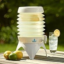El hidrato colmena–Portátil 7,5L dispensador de bebida plegable de agua recipiente de viaje con base y grifo)