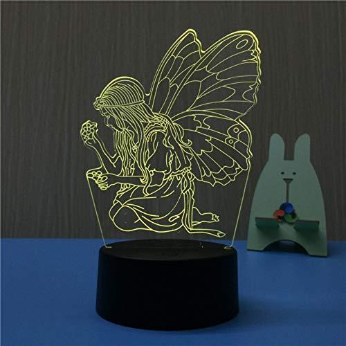 z De LED Holograma Lampada da scrivania creativa Acrilico colorato USB Lampka Touch Capodanno regalo Ambiance Lights ()