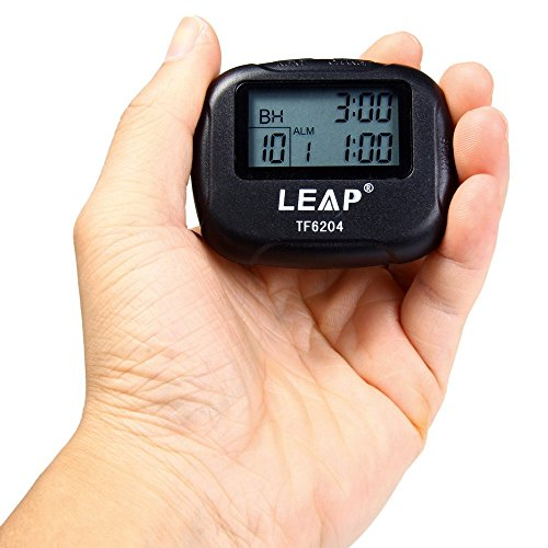 Sport Utility Intervall Timer Stoppuhr für Yoga HIIT Cardio Tabata mit LCD-Alarm und Vibrationsalarm Funktion