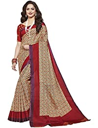 Ishin Bangalori Mysore Art Silk Beige & Red Printed Party Wear Wedding Wear Casual Wear Festive Wear New Collection...