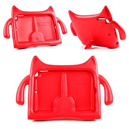 DURAGADGET Funda/Carcasa Infantil Roja Para Apple iPad Air - Diseño De Monstro Con Cola Soporte - Alta Calidad