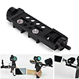 Universal Frame Mount Adapter Holder, Adjustable Extended Arm Straight Extension Assembly Accessories for DJI OSMO Pro Mobile Handheld Gimbal Camera Black