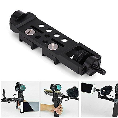 Universal Frame Mount Adapter Halterung, Verstellbarer verlängerter Arm gerade Verlängerung Montage Zubehör für DJI OSMO Pro Mobile Handheld Gimbal Kamera schwarz - Mobile Arm-unterstützung