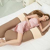 DZX Pregnancy Pillow/Maternity Pillow U Shaped, Full Body Pillow, Nursing Pillow, Wedge Pillow With 100% Cotton Pillowcase,F-160 * 80 * 20cm