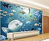Tapeten Benutzerdefinierte Tapete Wandbild Aufkleber Unterwasserwelt Aquarium 3D Foto 3D Wandbilder Tapete