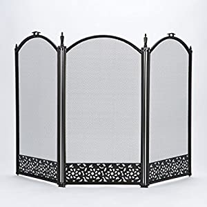Vintage Fire Screen Spark Stove Guard Square Black Fireplace Safety Victorian Fireguard Hearth Guard Nursery Baby Child Shield Cover