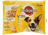 Pedigree Vital Protection Hundefutter mit Huhn und Lamm in Gelee, 52 Beutel (13 x 4 x 100 g)