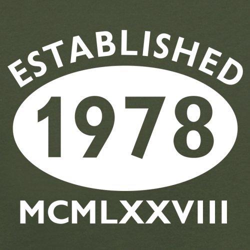 Gegründet 1978 Römische Ziffern - 39 Geburtstag - Herren T-Shirt - 13 Farben Olivgrün