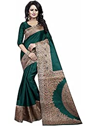 Ishin Kalamkari Art Silk Green Printed Party Wear Wedding Wear Casual Wear Festive Wear Bollywood New Collection...