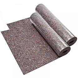 2 Rollen Abdeckvlies grau 1 m x 50 m, gesamt 100 m², starke 220g/m², Saugvlies, Malervlies - SPAR-Doppelpack