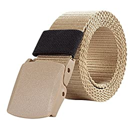 Cintura Uomo In Tela Militare Sportiva Tattica Casual Nera Cintura Moda All Aperto Unisex Molti Colori Disponibili Canvas Belt 130cm