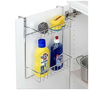 ducomi regal aus metall edelstahl zum aufh ngen an t r oder der duschkabine organizer dusche. Black Bedroom Furniture Sets. Home Design Ideas