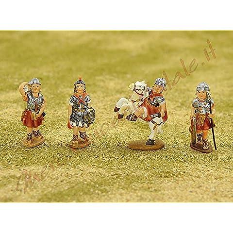 Personaggi cm.7 Soldati Romani set pz.4