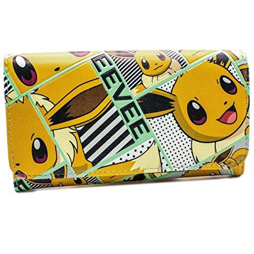 Cartera de Nintendo Pokemon Eevee feliz naranja