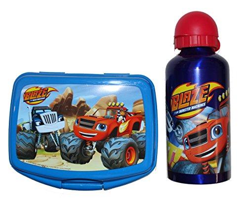 blaze-and-the-monster-machines-brotdose-aluminium-trinkflasche-dunkelblau