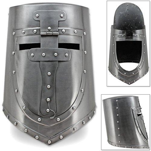 annafi visored Tolles Crusaders, Germanische und europäische Helm FLAT TOP Teller Helm Armor 18g - Einfache Kostüm Basierend Auf Filme