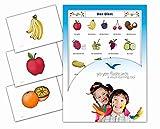 Yo-Yee Flashcards Bildkarten für Den Deutschunterricht - Obst - Erweitere spielerisch Grundwortschatz, Satzbau und Grammatik - Für Kita, Kindergarten, Grundschule Oder Logopädie