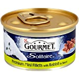 Gourmet Solitaire Wet Cat Food Premium Mini Fillets with Rabbit in Sauce, 85 g - Pack of 12