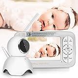 ZUEN HD 720 P sans Fil Moniteur pour Bébé PTZ 360 Degrés 5 Pouce LCD Zoomable...