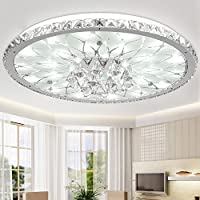 Fsd Runde Wohnzimmer Led Kristall Deckenleuchte, Moderne, Minimalistische  Atmosphäre Europäische Lobby Restaurant Kristall Lampe