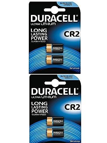 DURACELL Lot de 4 Piles photo Lithium Ultra CR 2 blister de 2 x2