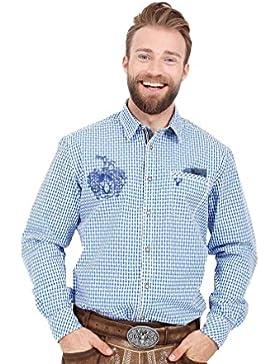 Michaelax-Fashion-Trade Krüger - Herren Trachtenhemd in Blau, Ben (95104-8)