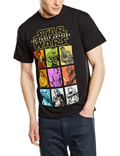 Testa in plastica da uomo Star Wars Il Risveglio Della Forza carattere Pa a maniche corte maglietta nero Large