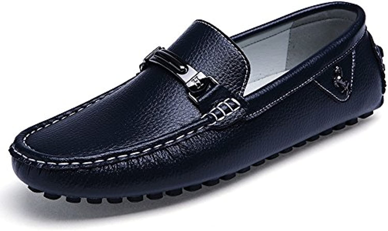 Liuxiaoqing Leder Herrenschuhe Loafers Casual Fahrschuhe