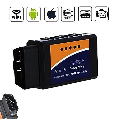 Golvery Car WIFI OBD OBD2 OBDII Diagnostic Scan Tool, Mini