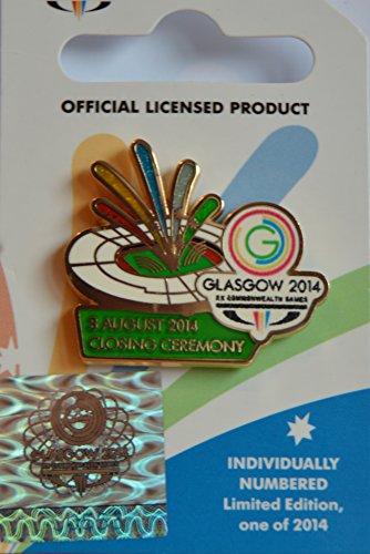 Offizieller Glasgow 2014 Commonwealth Games Closing Ceremony Pin Anstecknadel - individuell nummeriert Limitierte Auflage von 2014 CC0695