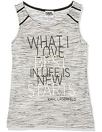 Karl Lagerfeld Debardeur, Camiseta sin Mangas para Niñas