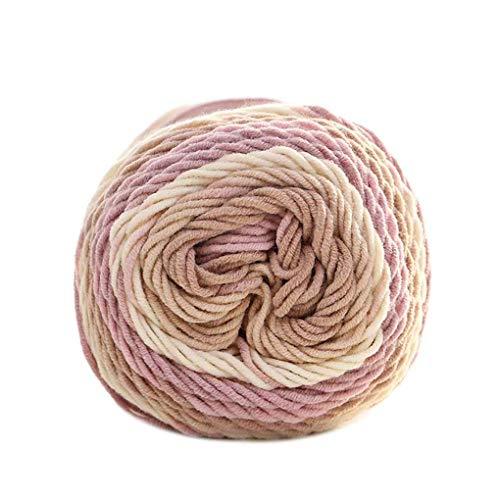 100 g/Bolas Colores Arco Iris 5 Capas Hilados algodón