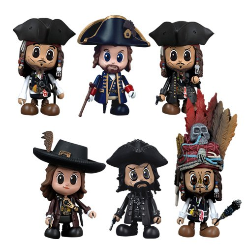Pirates Of The Caribbean On Stranger Tides Cosbaby Set Of 6 Figures By Hot Toys