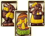 Geschenkidee Schokolade - Schokoladen Geschenkbox Ostern, 36 Stück je 10g, 3-fach sortiert, einzeln verpackt Größe: 65x40 mm