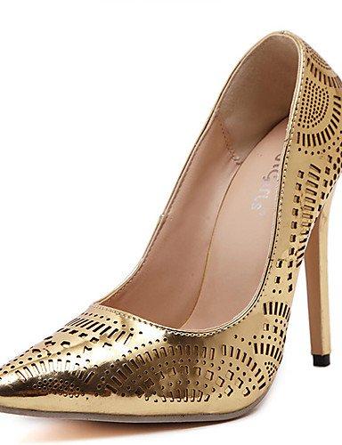 GS~LY Damen-High Heels-Lässig-PU-Stöckelabsatz-Absätze / Spitzschuh-Silber / Gold golden-us6.5-7 / eu37 / uk4.5-5 / cn37