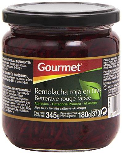 Gourmet Remolacha Roja Tiras - Paquete 6 x 180 gr
