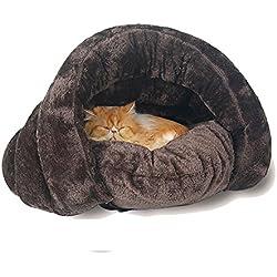 Casa para mascotas con diseño triangular, saco de dormir, lavable, cómoda para acurrucarse, para gatitos, perros y cachorros, un cálido refugio, acogedor y cómodo para tu mascota, de GossipBoy