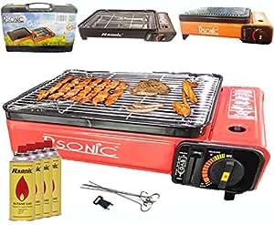 Barbecue a gas grill a gas grill da campeggio portatile barbecue grill da tavolo con piastra - Barbecue portatile a gas ...