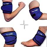 Compresse EZY WRAP pour cheville/Coude/genou Bras/poignet, utilisation avec gel chaud froid de glace