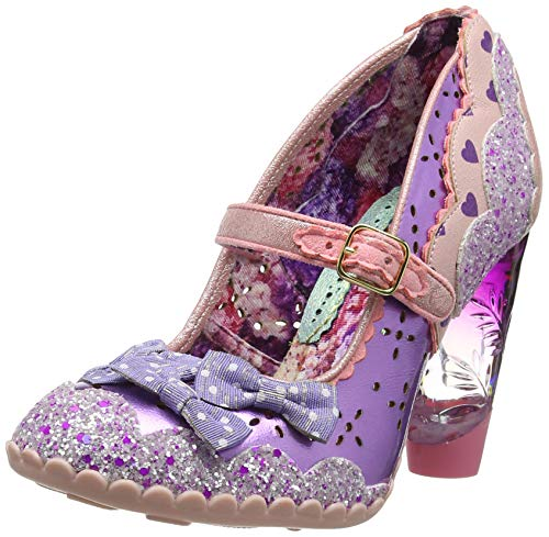 Irregular Choice Damen Shoependous Mary Jane Halbschuhe, Violett (Pink/Purple B), 40 EU - Jane Mary Purple Schuhe