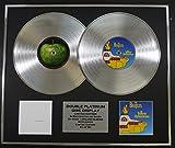 THE BEATLES/Zweifache Platin Schallplatte DISPLAY/Limitierte Edition/COA/THE WHITE ALBUM & YELLOW SUBMARINE