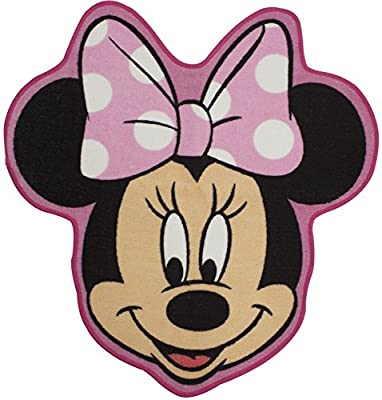 Character World Disney Minnie Mouse Makeover Shaped Rug, Multi-Color - low-cost UK light shop.