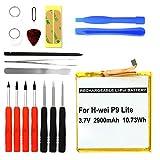 CELLONIC Batterie premium pour Huawei P9 / P9 Lite / Honor 8 / Honor 5C + Set de micro vissage (2900mAh) HB366481ECW Batterie de rechange, Accu remplacement